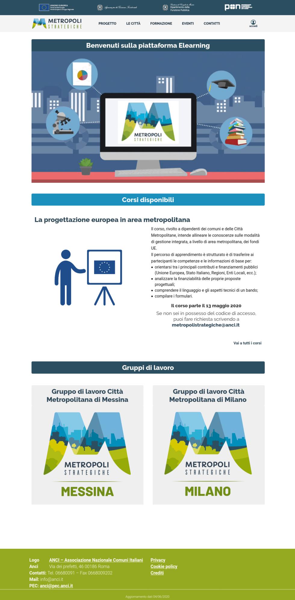 Piattaforma elearning metropolistrategiche.it
